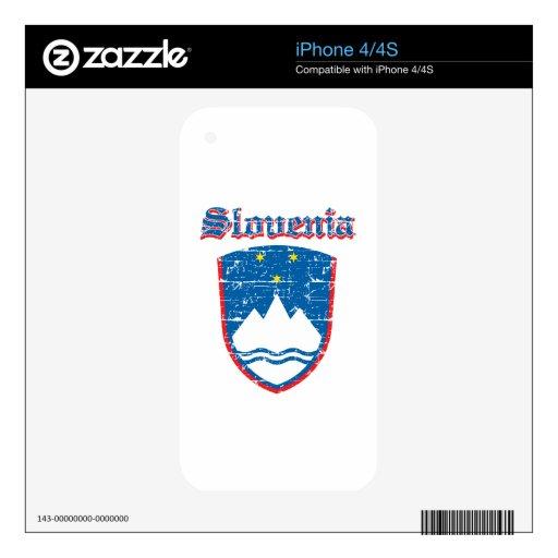 Diseños del escudo de armas de Eslovenia del Grung Skin Para El iPhone 4
