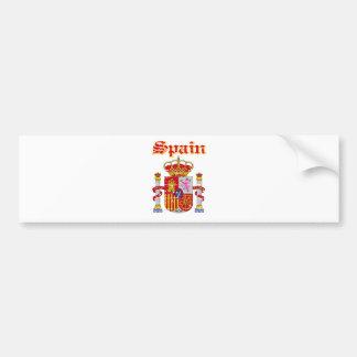 Diseños del escudo de armas de España del Grunge Pegatina De Parachoque