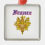 Diseños del escudo de armas de Francia del Grunge Ornamentos De Reyes Magos