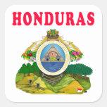 Diseños del escudo de armas de Honduras Calcomanías Cuadradas