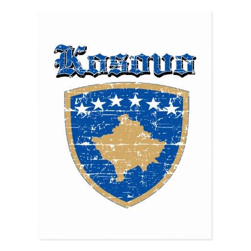 Diseños del escudo de armas de Kosovo del Grunge Postal