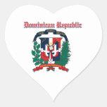 Diseños del escudo de armas de la República Calcomanía De Corazón