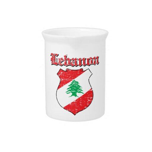 Diseños del escudo de armas de Líbano Jarrones