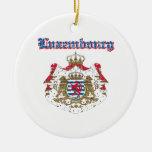Diseños del escudo de armas de Luxemburgo del Grun Ornamento Para Arbol De Navidad