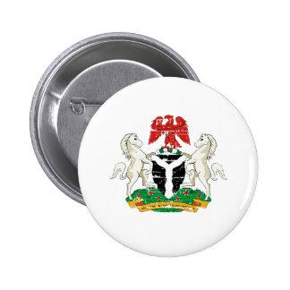 Diseños del escudo de armas de Nigeria del Grunge Pins