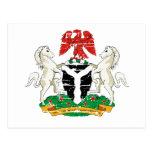 Diseños del escudo de armas de Nigeria del Grunge Postales