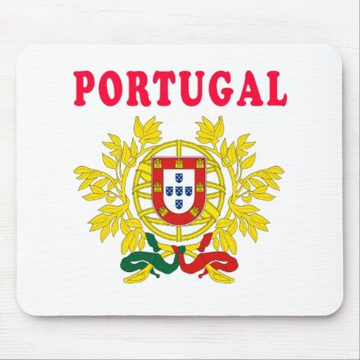 Diseños del escudo de armas de Portugal Tapetes De Ratones