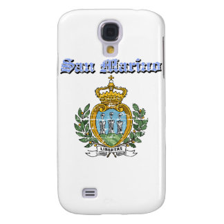 Diseños del escudo de armas de San Marino del Grun Funda Para Galaxy S4