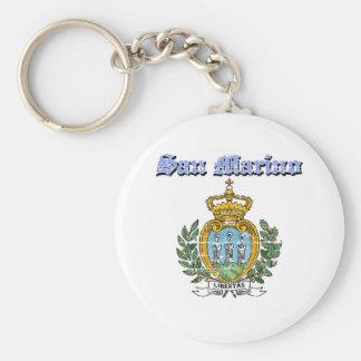 Diseños del escudo de armas de San Marino del Grun Llavero Redondo Tipo Pin