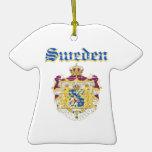 Diseños del escudo de armas de Suecia del Grunge Ornamentos Para Reyes Magos