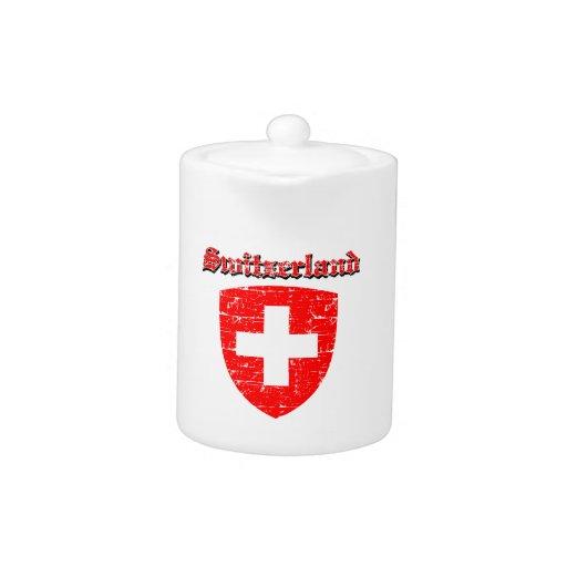 Diseños del escudo de armas de Suiza del Grunge