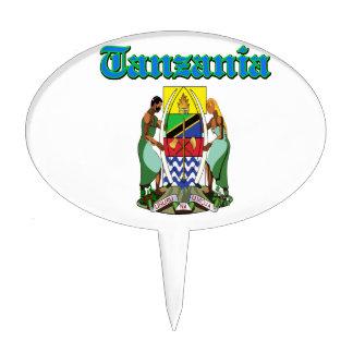 Diseños del escudo de armas de Tanzania del Grunge Decoraciones De Tartas