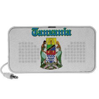 Diseños del escudo de armas de Tanzania del Grunge Altavoces De Viajar