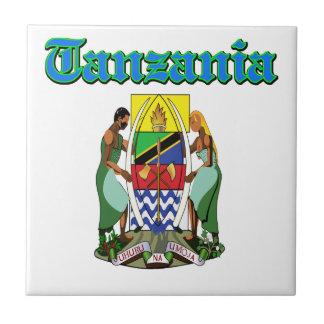 Diseños del escudo de armas de Tanzania del Grunge Azulejo