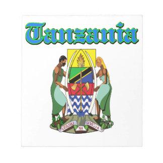 Diseños del escudo de armas de Tanzania del Grunge Bloc De Papel