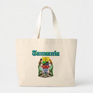 Diseños del escudo de armas de Tanzania del Grunge Bolsas
