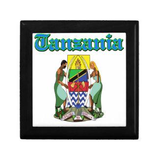 Diseños del escudo de armas de Tanzania del Grunge Cajas De Joyas