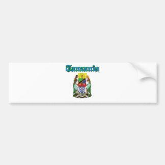 Diseños del escudo de armas de Tanzania del Grunge Pegatina De Parachoque