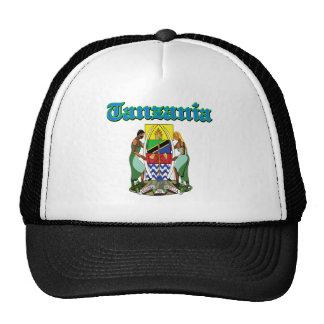 Diseños del escudo de armas de Tanzania del Grunge Gorro