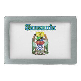 Diseños del escudo de armas de Tanzania del Grunge Hebillas De Cinturón