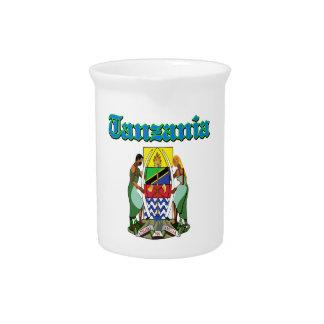 Diseños del escudo de armas de Tanzania del Grunge Jarrones