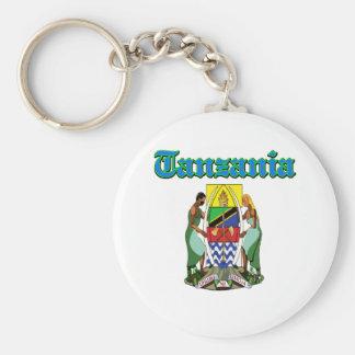 Diseños del escudo de armas de Tanzania del Grunge Llavero Personalizado