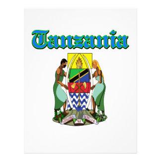 Diseños del escudo de armas de Tanzania del Grunge Membrete Personalizado