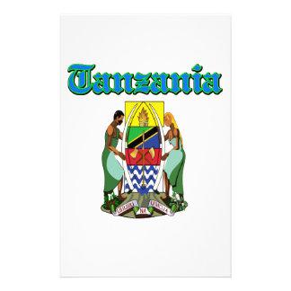 Diseños del escudo de armas de Tanzania del Grunge Papeleria De Diseño