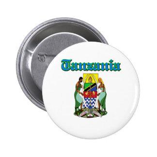 Diseños del escudo de armas de Tanzania del Grunge Pins