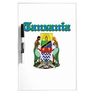 Diseños del escudo de armas de Tanzania del Grunge Pizarras Blancas De Calidad