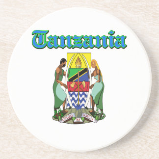 Diseños del escudo de armas de Tanzania del Grunge Posavaso Para Bebida