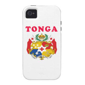 Diseños del escudo de armas de Tonga iPhone 4 Funda
