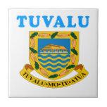 Diseños del escudo de armas de Tuvalu Teja Cerámica