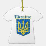 Diseños del escudo de armas de Ucrania del Grunge Ornatos