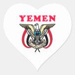 Diseños del escudo de armas de Yemen Colcomanias De Corazon