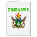 Diseños del escudo de armas de Zimbabwe Tarjetón