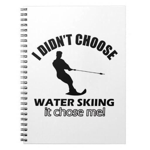 diseños del esquí acuático libretas espirales