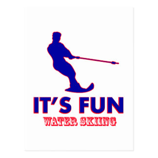 diseños del esquí acuático postal