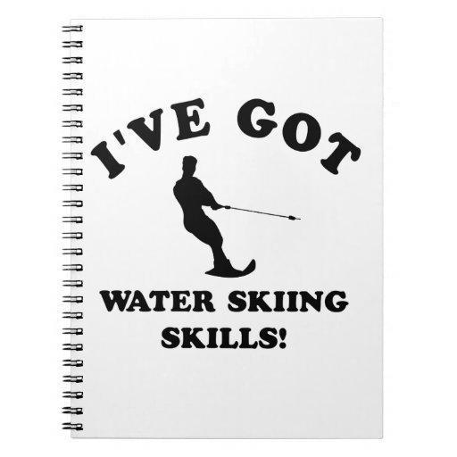 Diseños del esquí acuático y artículos del regalo libro de apuntes