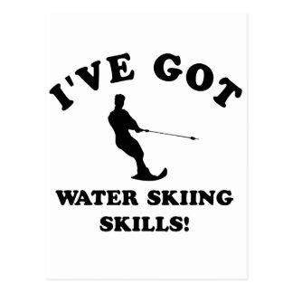 Diseños del esquí acuático y artículos del regalo postal