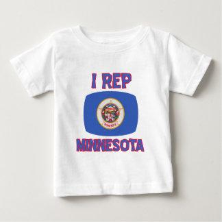 Diseños del estado de Minnesota Playera De Bebé