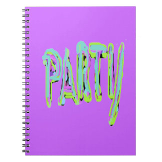 Diseños del fiesta spiral notebooks
