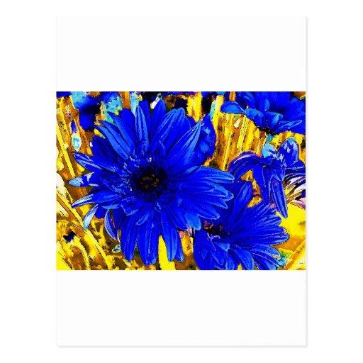 Diseños del flower power tarjeta postal