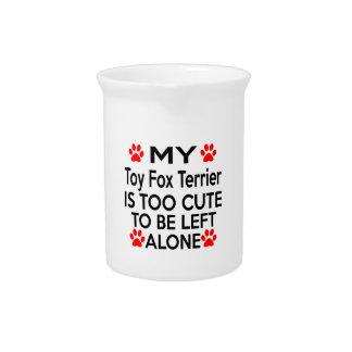 Diseños del fox terrier del juguete jarra de beber