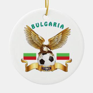 Diseños del fútbol de Bulgaria Adorno Redondo De Cerámica