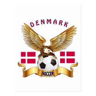 Diseños del fútbol de Dinamarca Tarjetas Postales