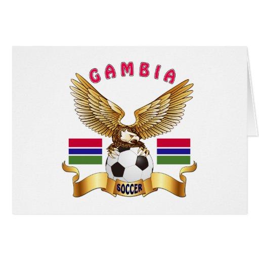 Diseños del fútbol de Gambia Tarjeta De Felicitación