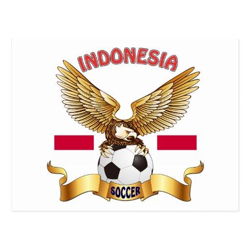 Diseños del fútbol de Indonesia Tarjetas Postales