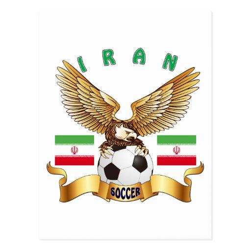 Diseños del fútbol de Irán Tarjeta Postal