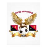 Diseños del fútbol de Papúa Nueva Guinea Membrete Personalizado